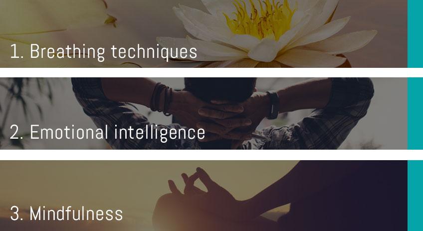 About Stress Less · Stress Management Course · 3 Steps